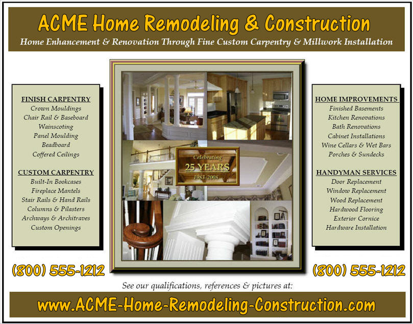 Banner Advertising oppertunities for contractors and construction companies | ContractorHomePros.com