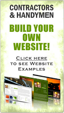 Contractors & Handymen build your own website. DIY website builder for contractors. Contractor website hosting.